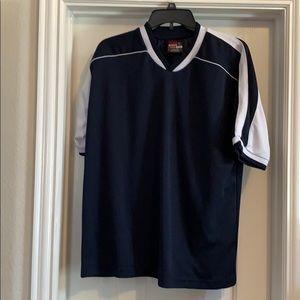 Men's Team Basics Navy Athletic Shirt, Size M